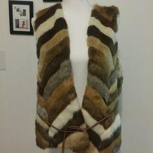 Chico's faux fur vest  Size L